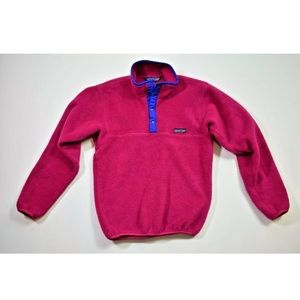 Patagonia PINK Micro D Snap-T Fleece Pullover